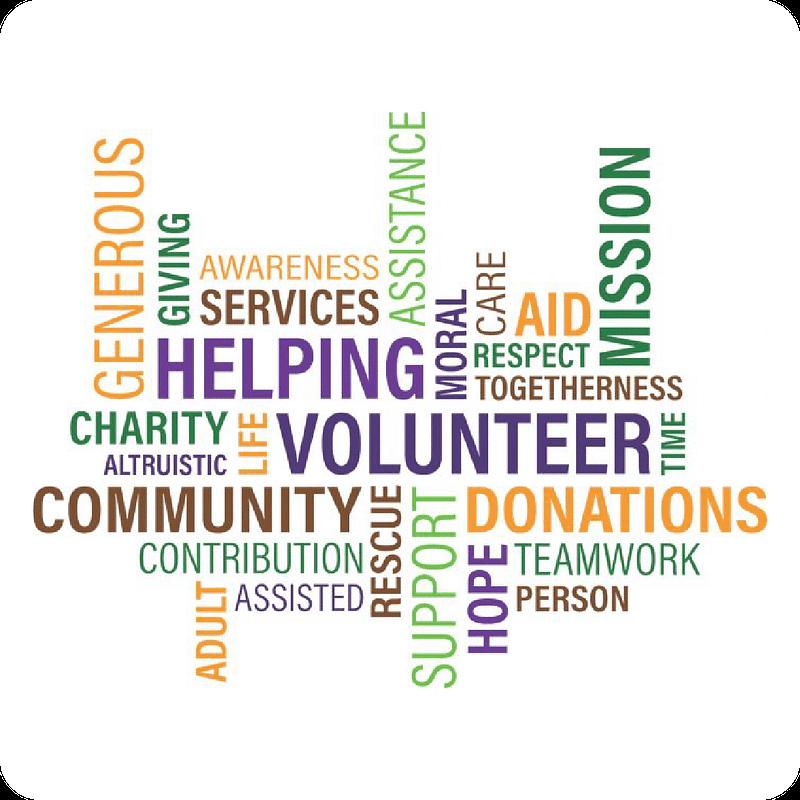 local nonprofits word graphic