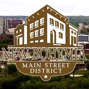 New bohemia main street district logo