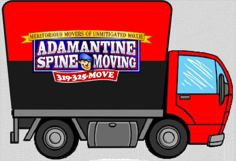 Spine moving moving truck logo