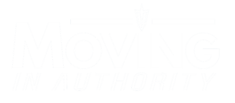 white moving in authority logo