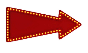 large red arrow facing right bedazzled with yellow circular lights on border