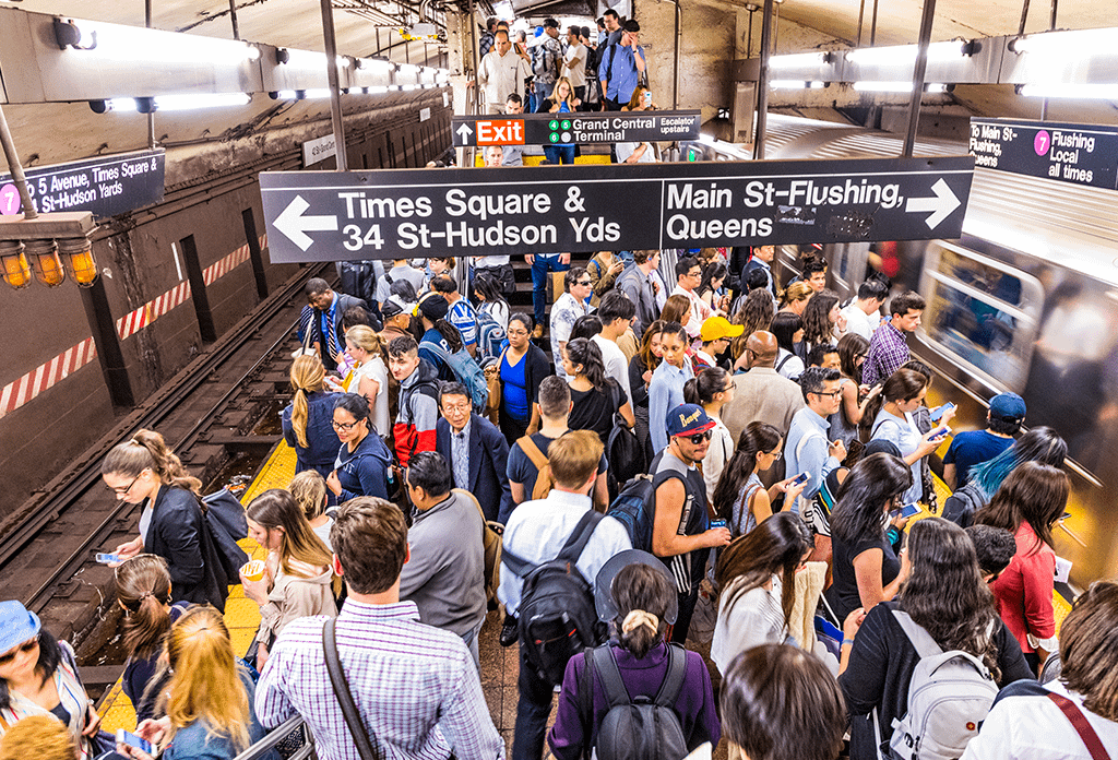 Crowded Subway In Grand Central At Rush Hour