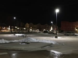 outdoor led lights in parking lot
