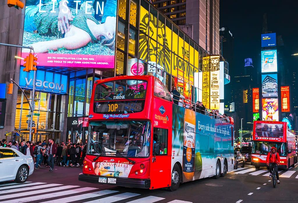 Tour Bus On Broadway