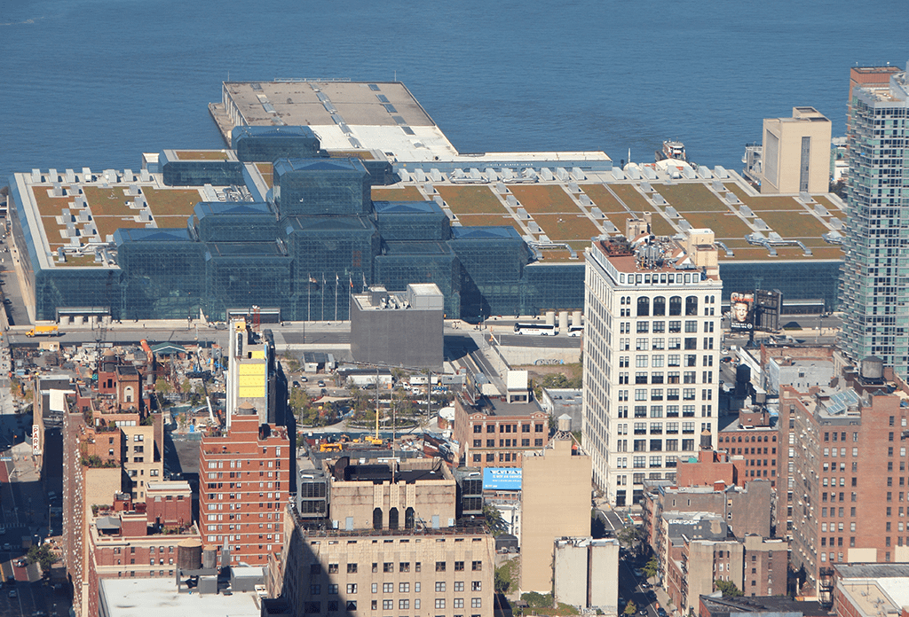 Aerial View Of The Jacob Javits Center Midtown West