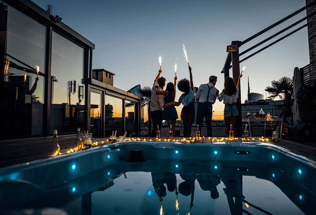 Rooftop Party In Soho