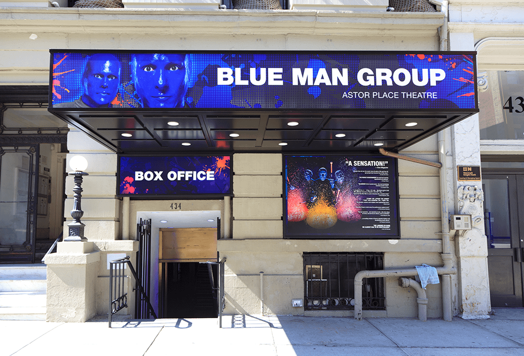 Blue Man Group At The Astor Place Theatre In The East Village