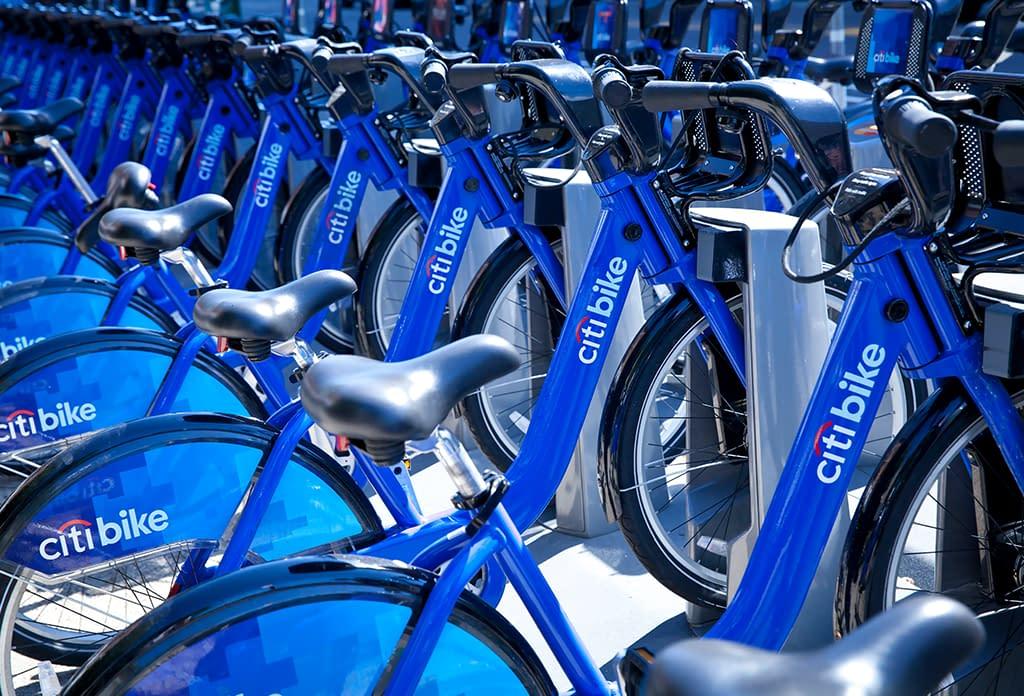Citi bike Rack In Midtown