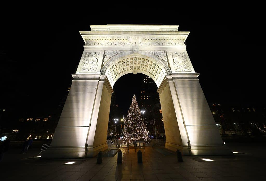 The Washington Sqaure Arch In Greenwich Village