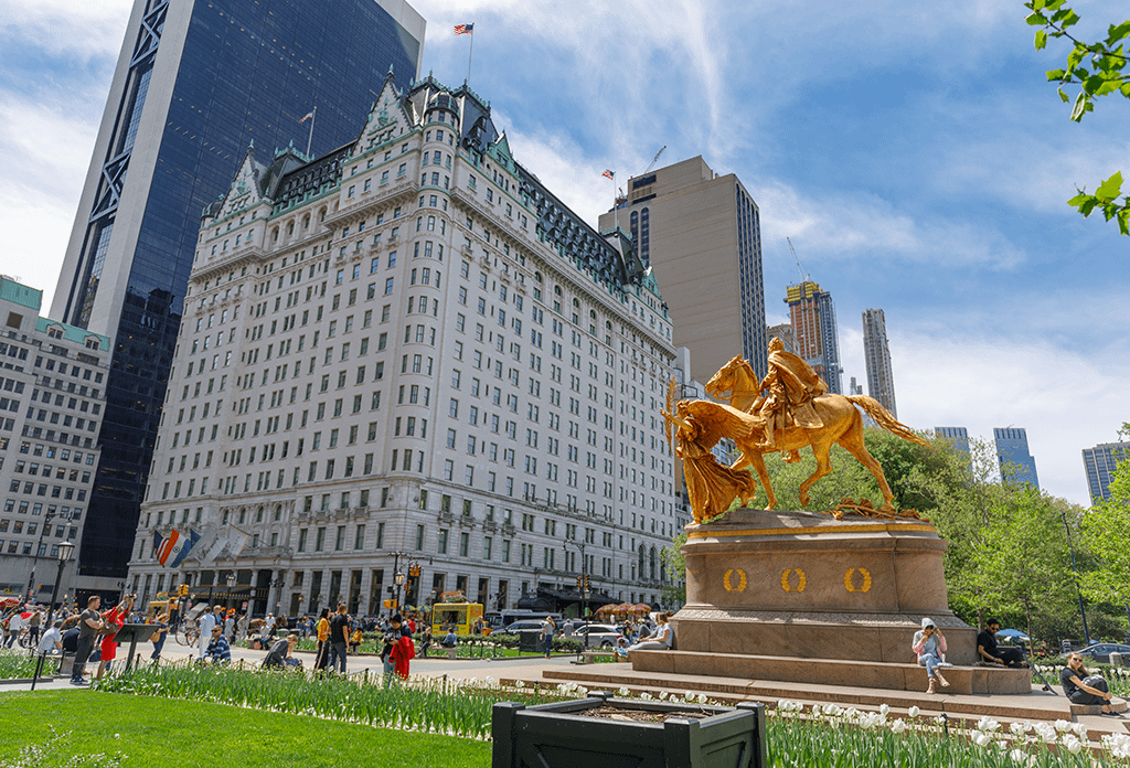 William Tecumseh Sherman Statue Near The Plaza Hotel And Central Park