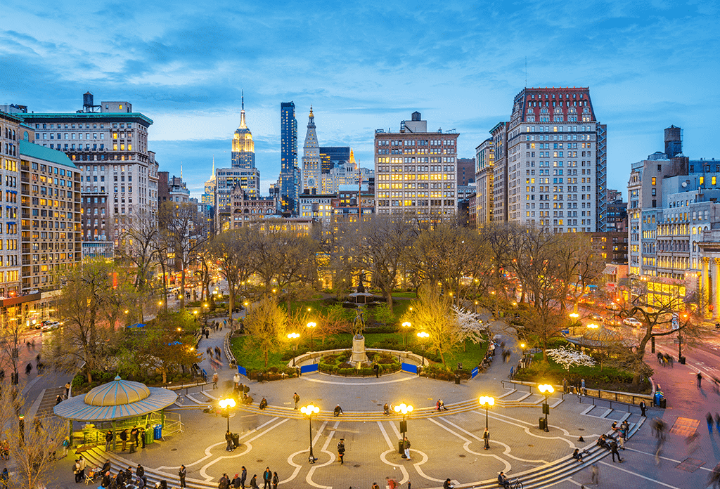 Twilight In Union Square