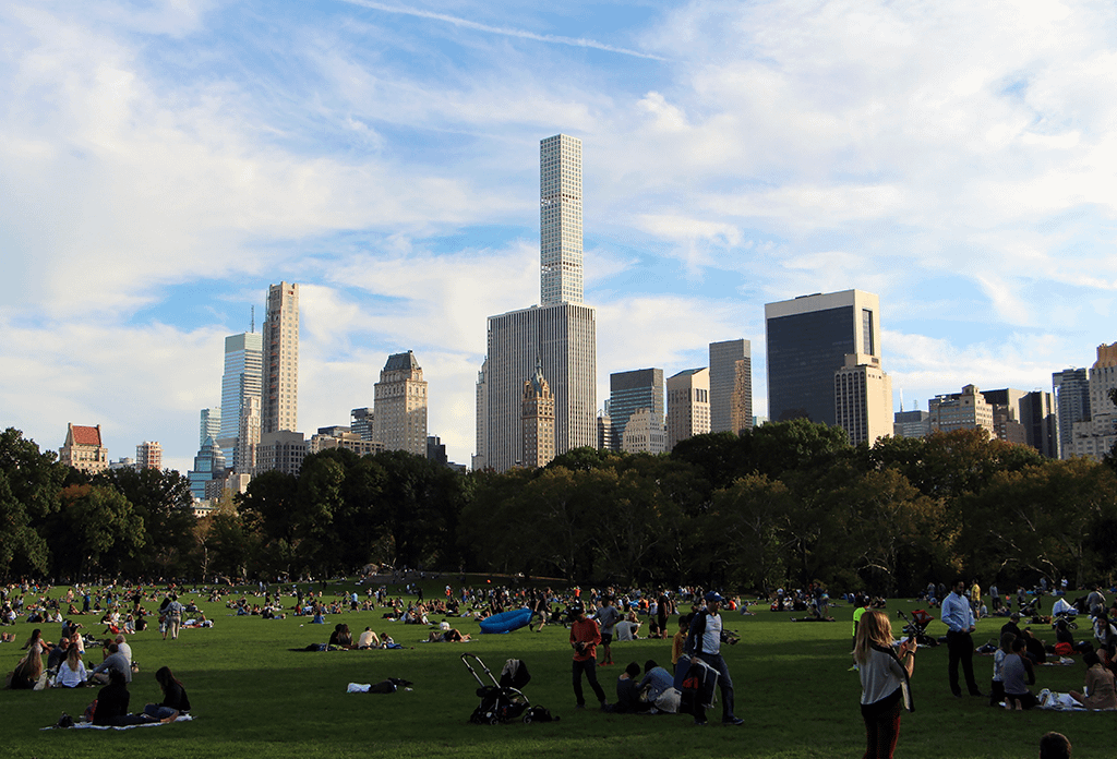 New Yorkers On The Great Lawn In Central Park