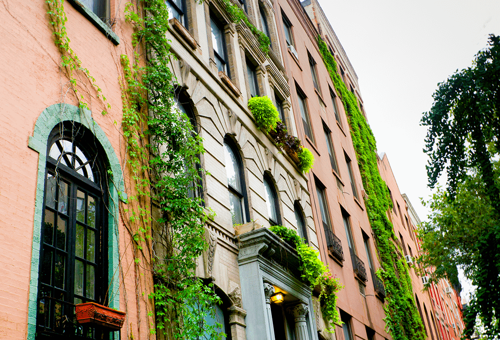Pretty Townhouses In Greenwich Village