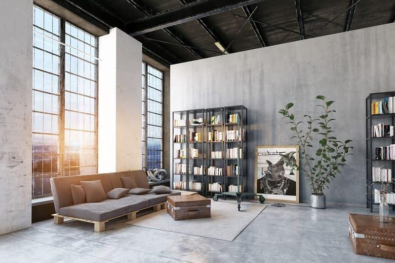 Modern Loft Lving Room.