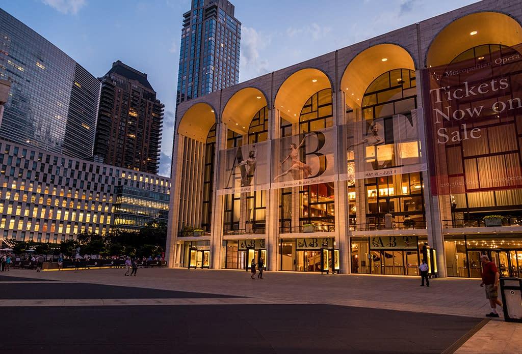 Lincoln Center At Dusk