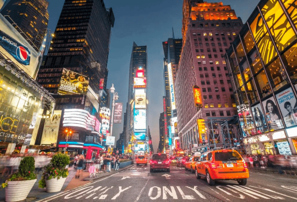Night Falls Of Times Square