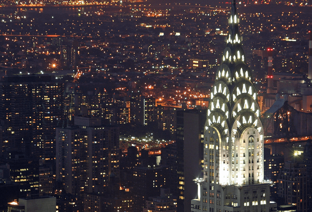 The Chysler Building Midtown East At Night