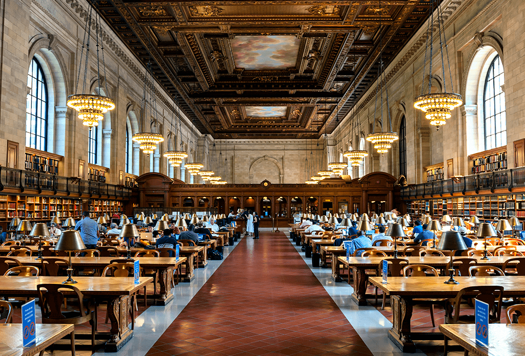 Interior Of The New York Public Library
